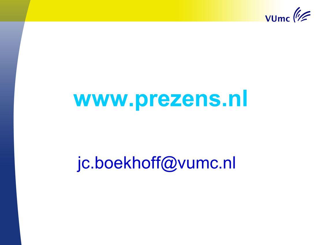 www.prezens.nl jc.boekhoff@vumc.nl