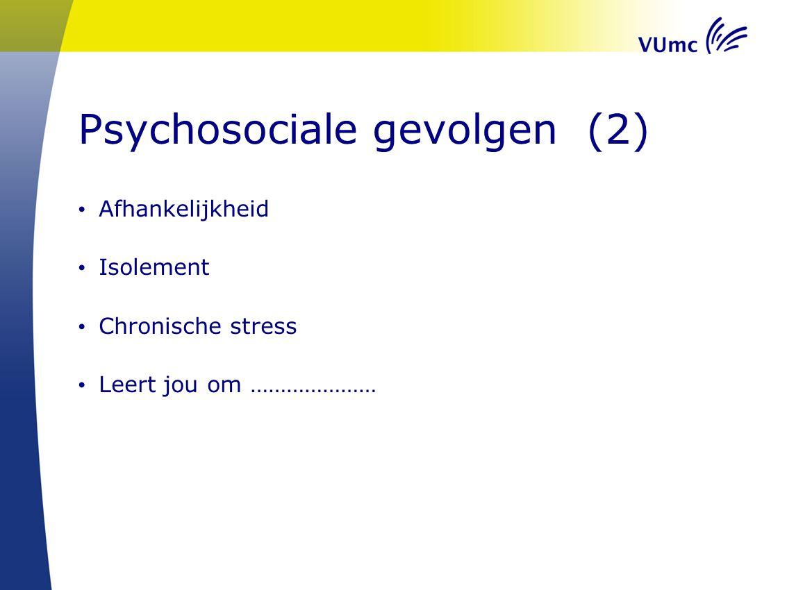 Psychosociale gevolgen (2)
