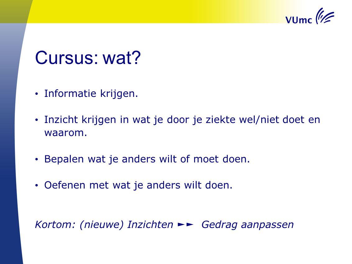 Cursus: wat Informatie krijgen.