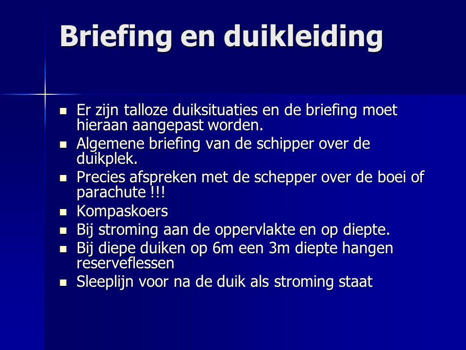 Briefing en duikleiding