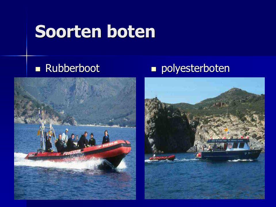 Soorten boten Rubberboot polyesterboten