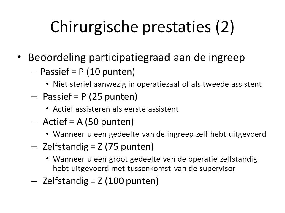 Chirurgische prestaties (2)