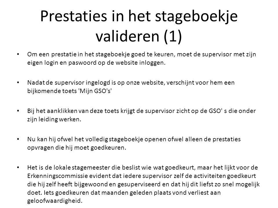 Prestaties in het stageboekje valideren (1)