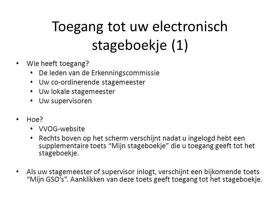 Toegang tot uw electronisch stageboekje (1)