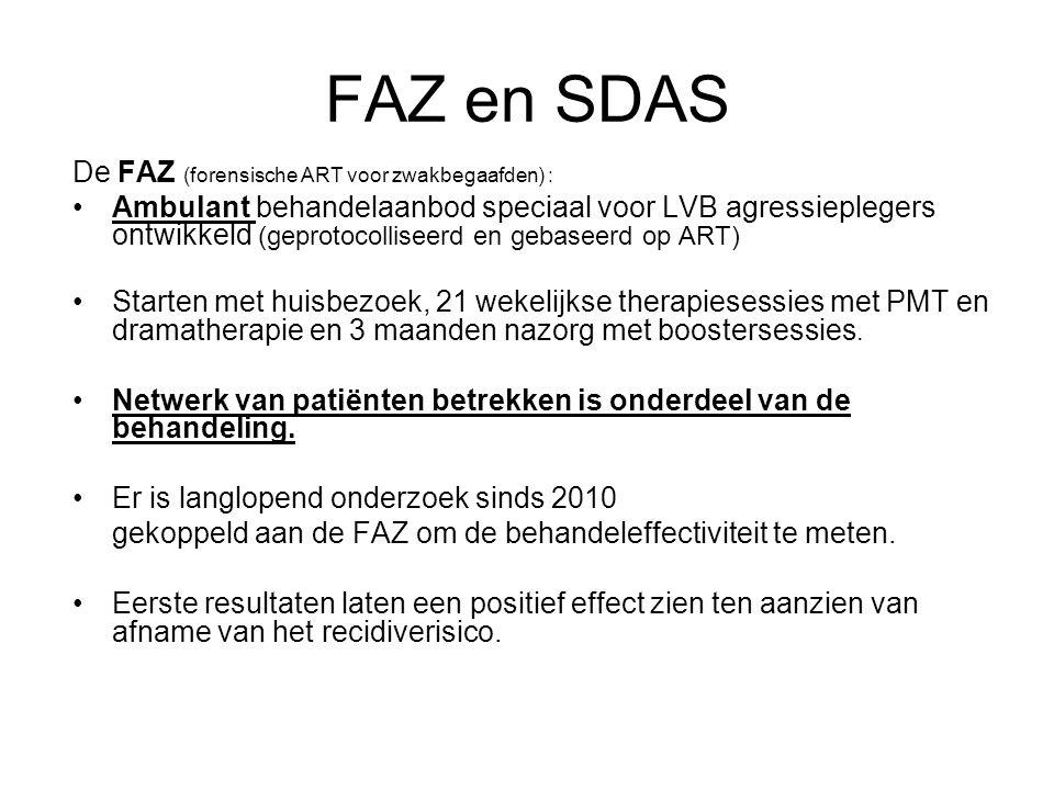 FAZ en SDAS De FAZ (forensische ART voor zwakbegaafden) :