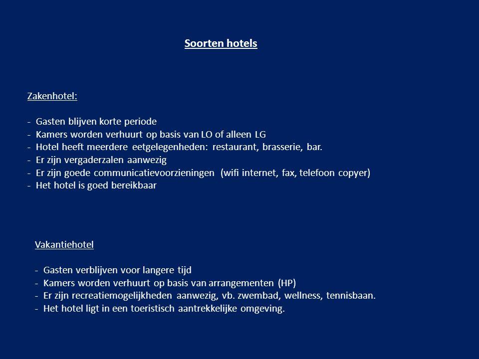 Soorten hotels Zakenhotel: Gasten blijven korte periode