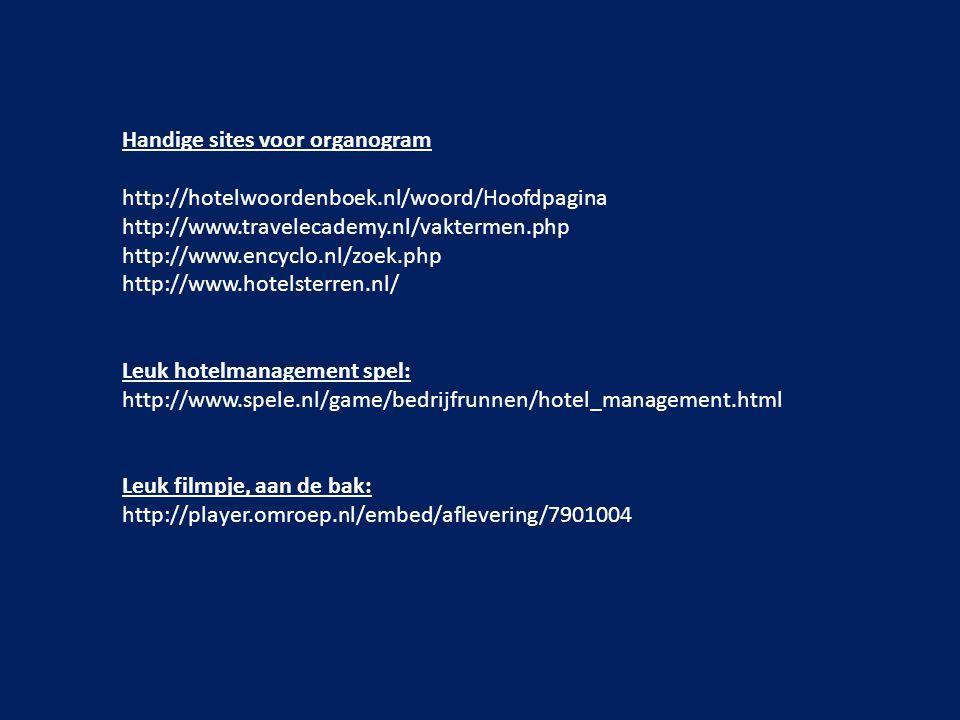 Handige sites voor organogram
