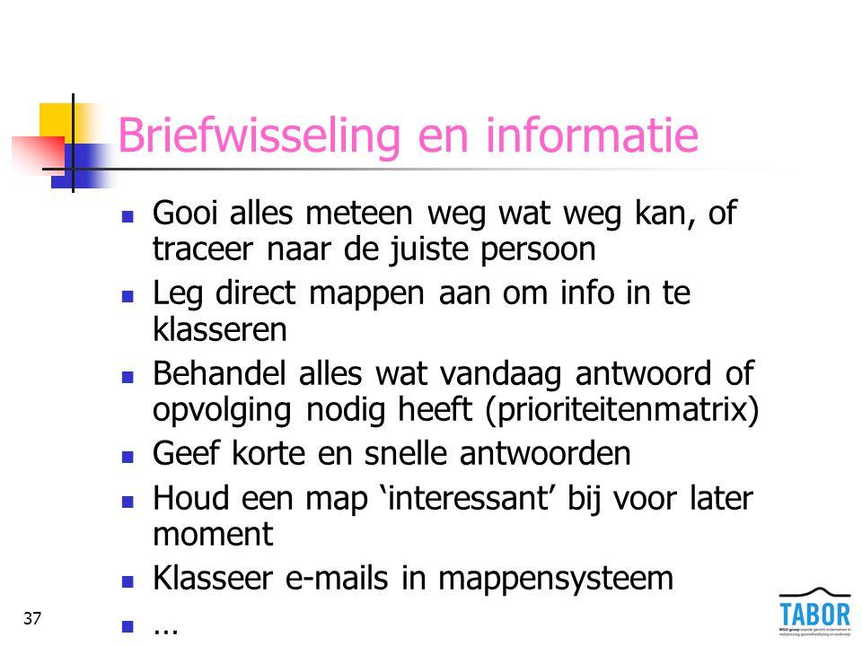 Briefwisseling en informatie