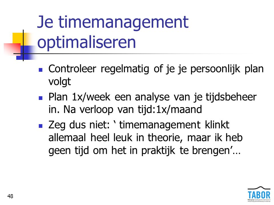Je timemanagement optimaliseren