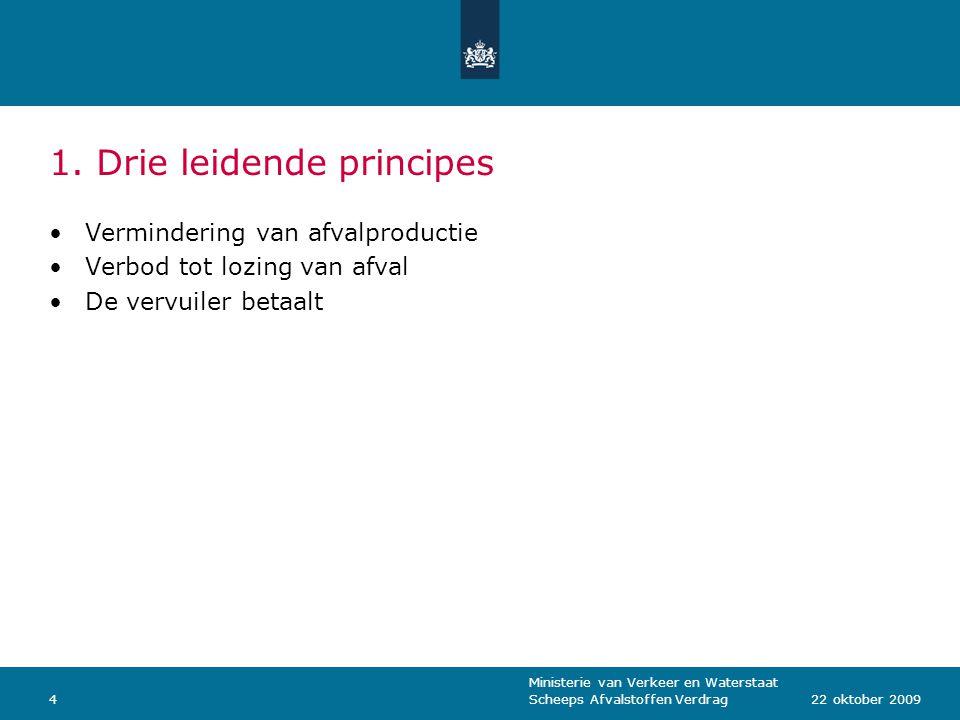 1. Drie leidende principes