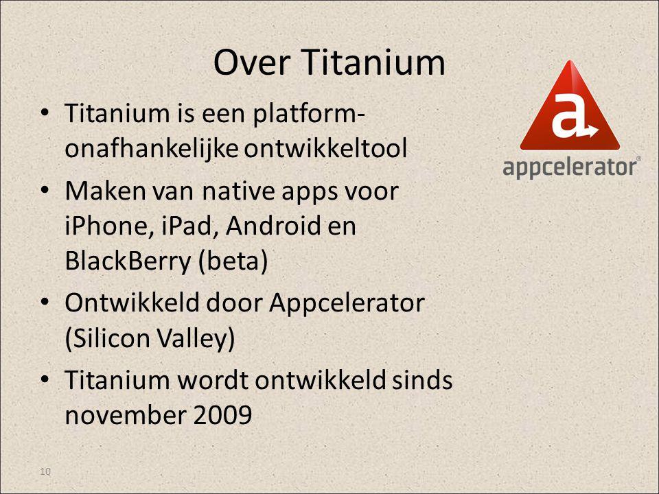 Over Titanium Titanium is een platform-onafhankelijke ontwikkeltool