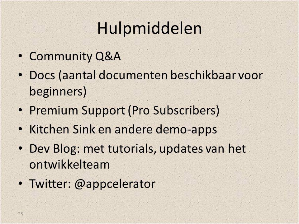 Hulpmiddelen Community Q&A