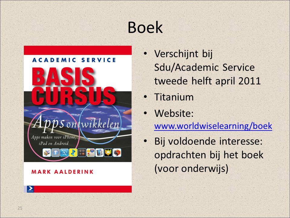 Boek Verschijnt bij Sdu/Academic Service tweede helft april 2011