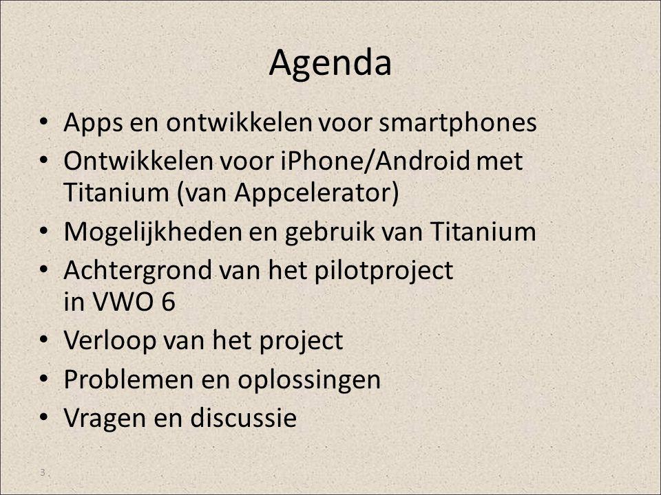Agenda Apps en ontwikkelen voor smartphones