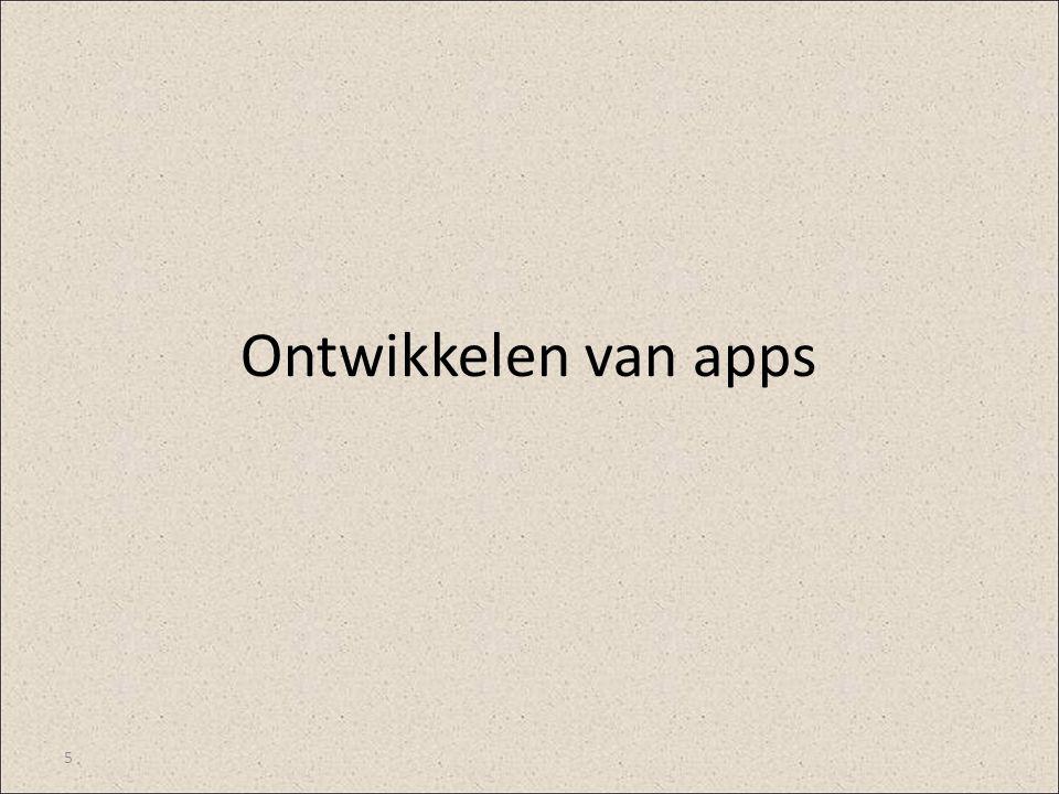 Ontwikkelen van apps