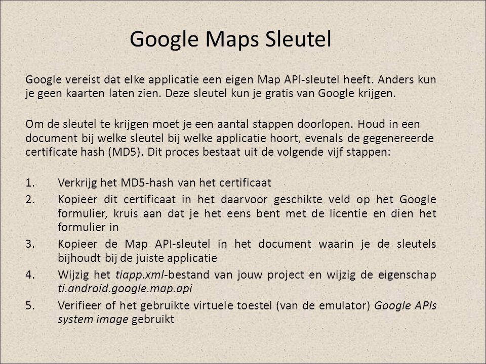 Google Maps Sleutel