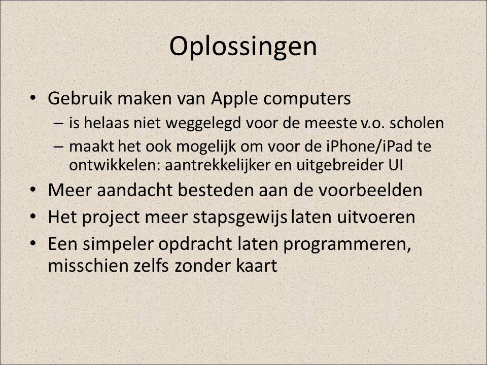 Oplossingen Gebruik maken van Apple computers