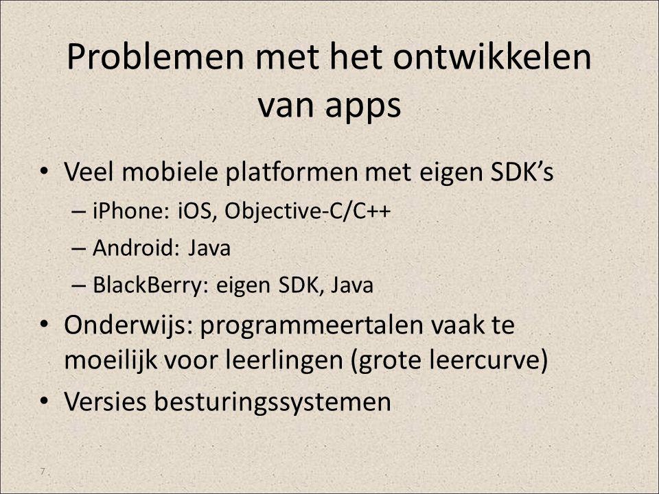 Problemen met het ontwikkelen van apps