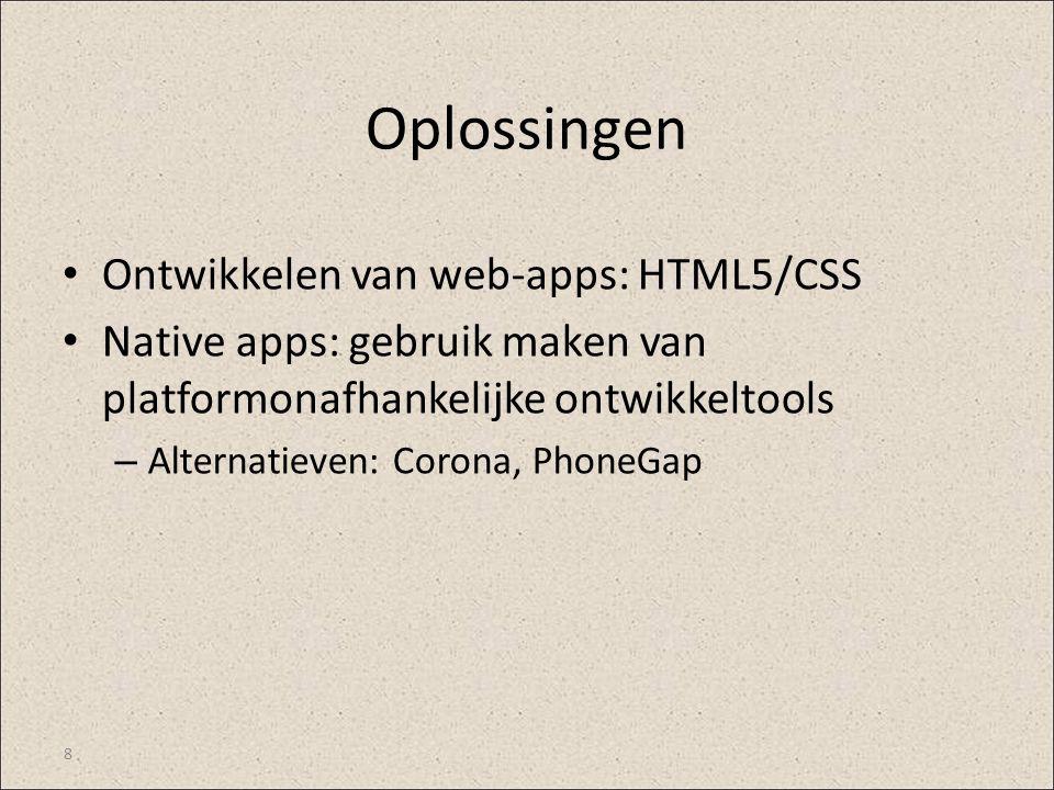 Oplossingen Ontwikkelen van web-apps: HTML5/CSS