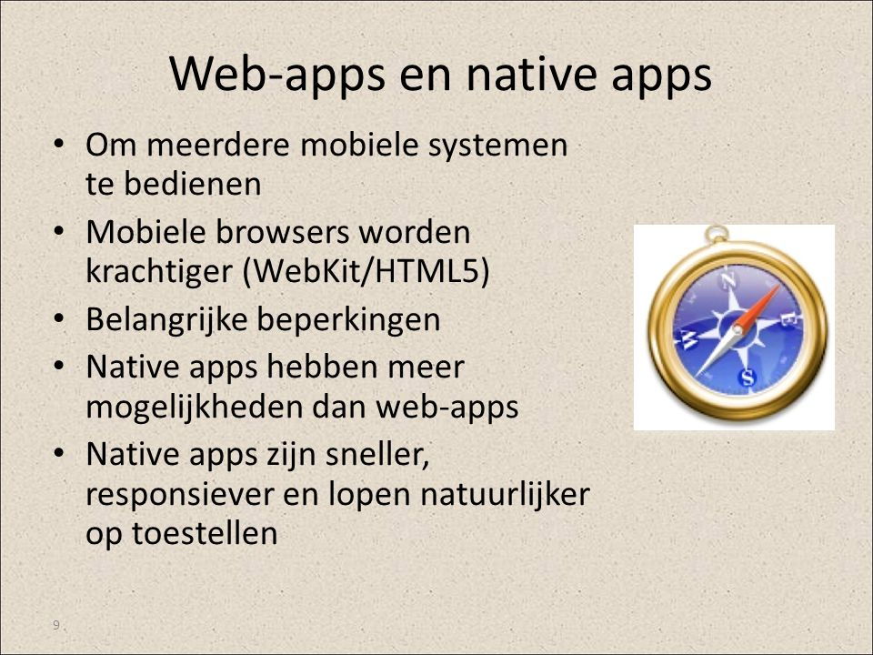 Web-apps en native apps