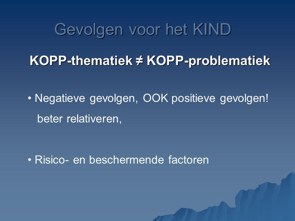 KOPP-thematiek ≠ KOPP-problematiek