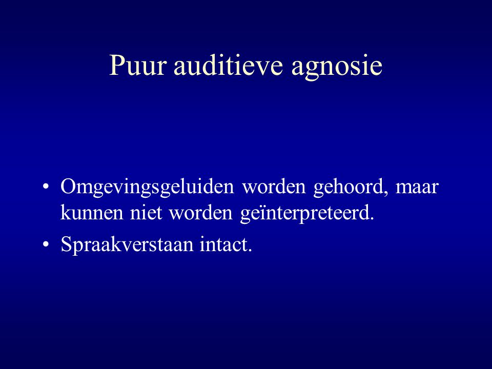 Puur auditieve agnosie