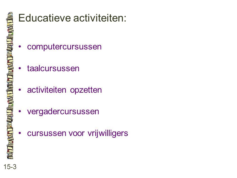 Educatieve activiteiten: