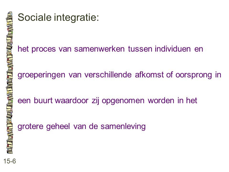 Sociale integratie: het proces van samenwerken tussen individuen en