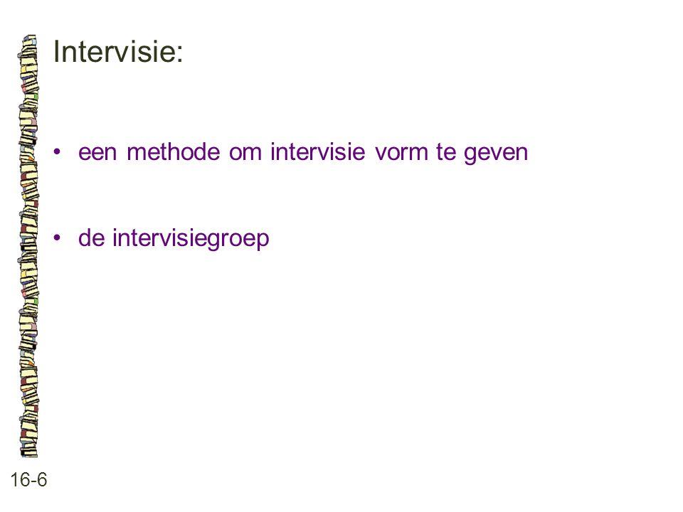 Intervisie: • een methode om intervisie vorm te geven