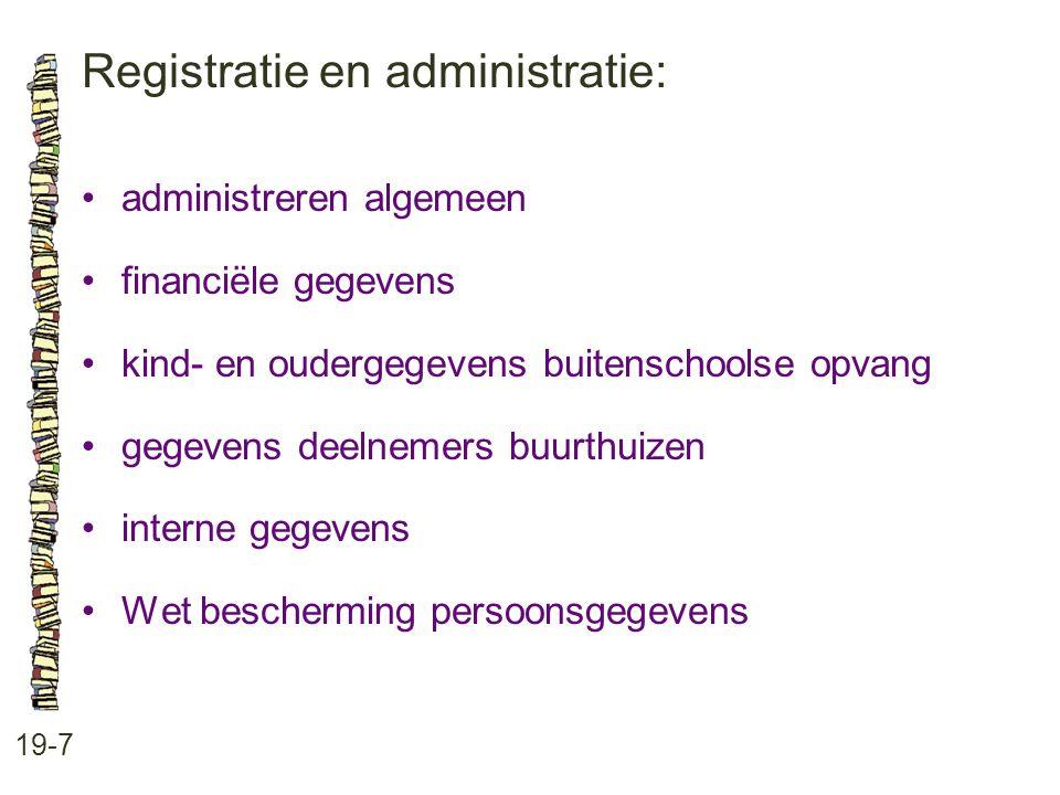 Registratie en administratie: