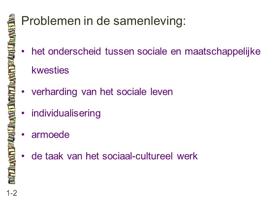 Problemen in de samenleving:
