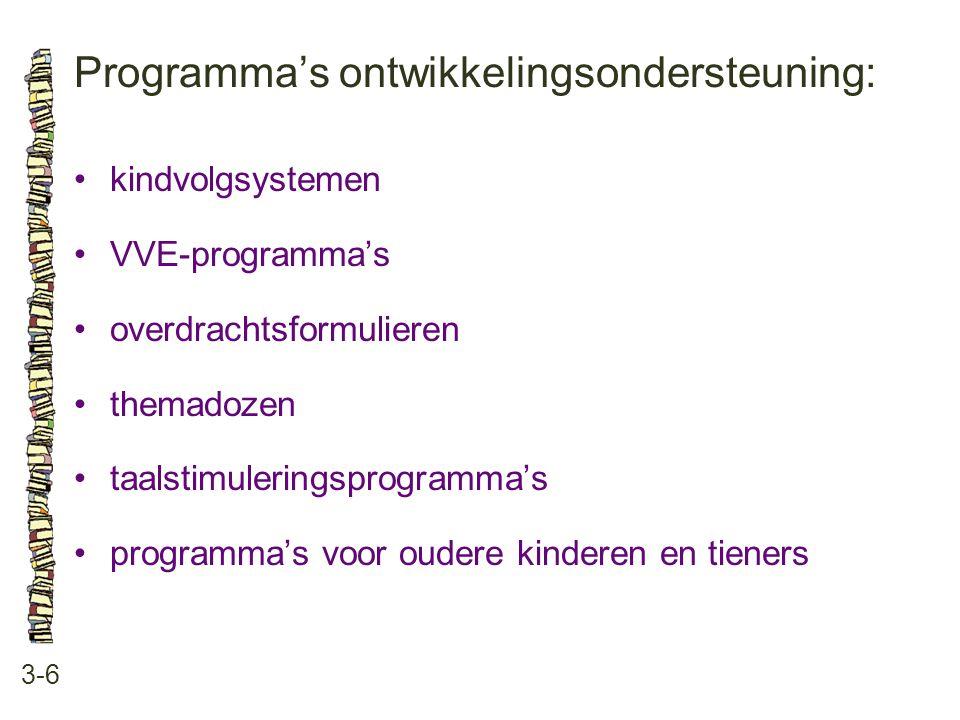 Programma's ontwikkelingsondersteuning: