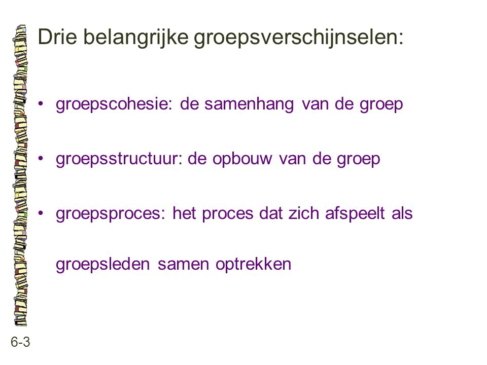 Drie belangrijke groepsverschijnselen:
