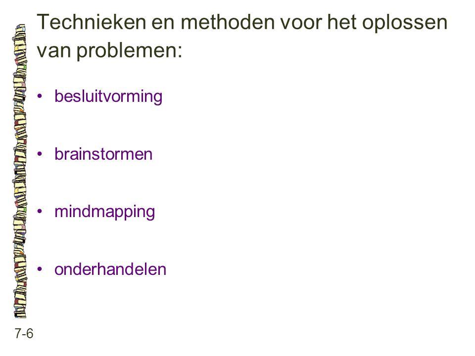 Technieken en methoden voor het oplossen van problemen:
