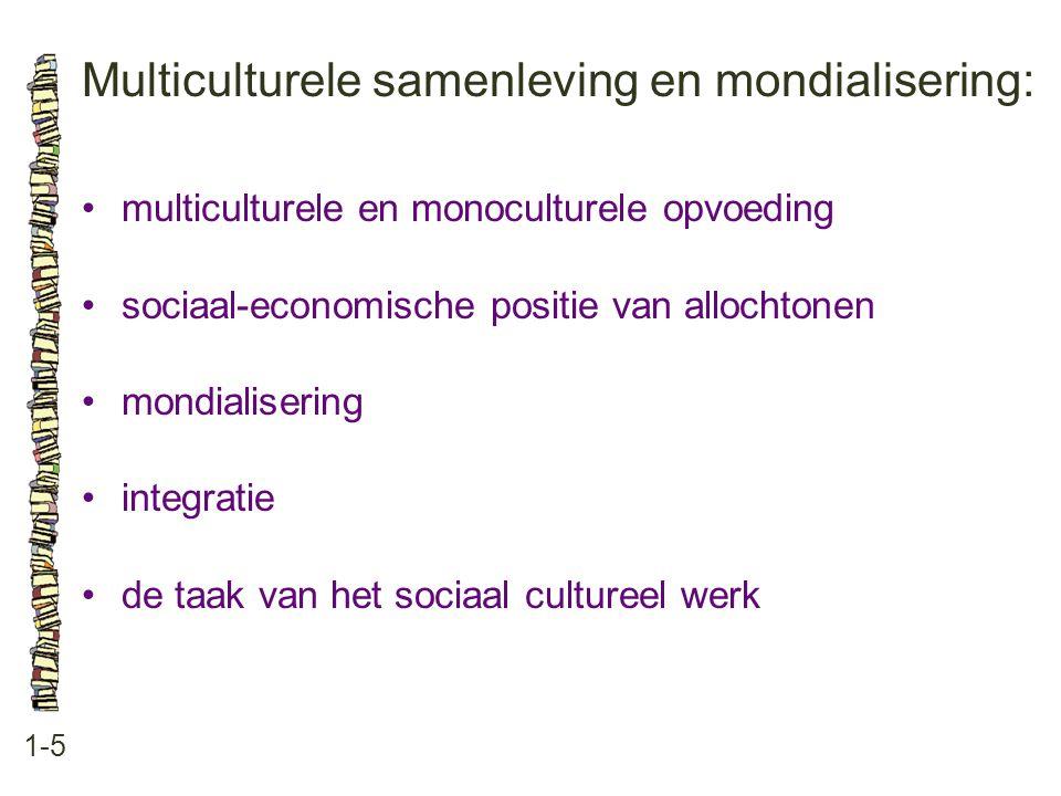 Multiculturele samenleving en mondialisering: