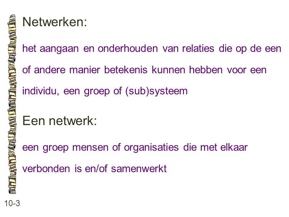 Netwerken: Een netwerk: