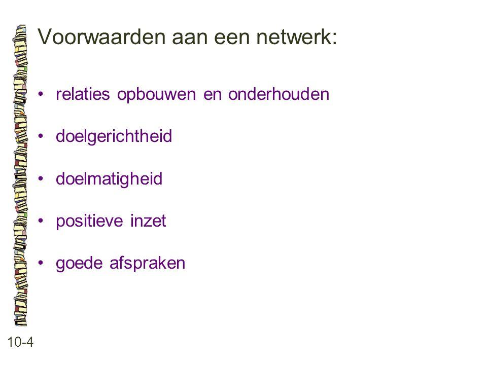 Voorwaarden aan een netwerk: