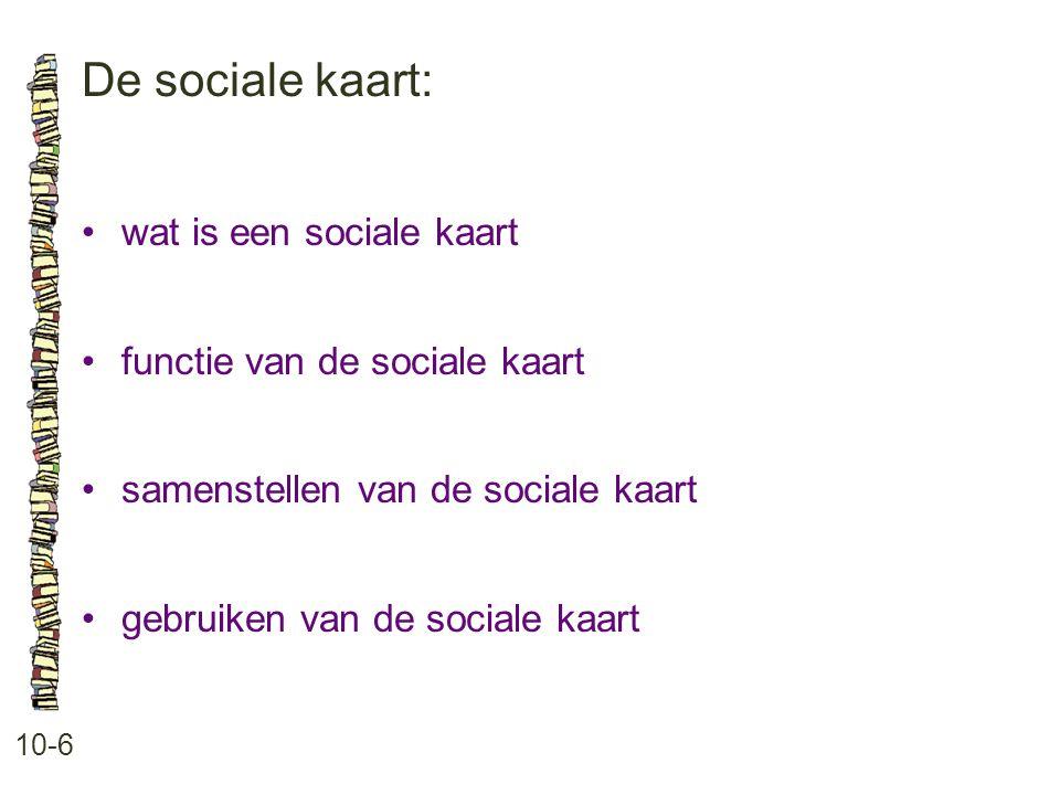 De sociale kaart: • wat is een sociale kaart