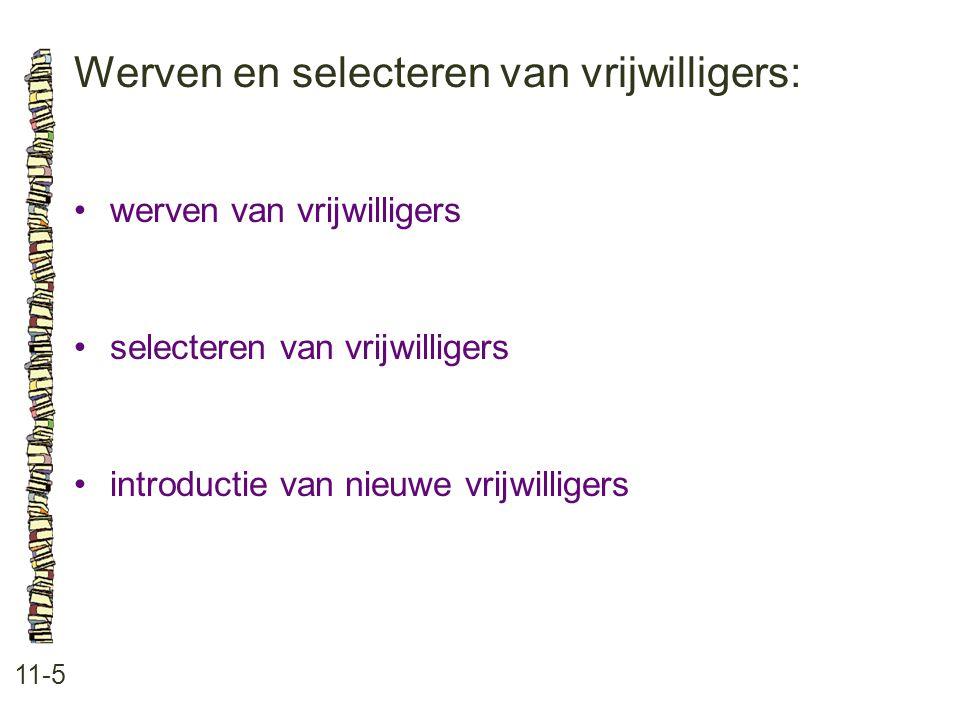 Werven en selecteren van vrijwilligers: