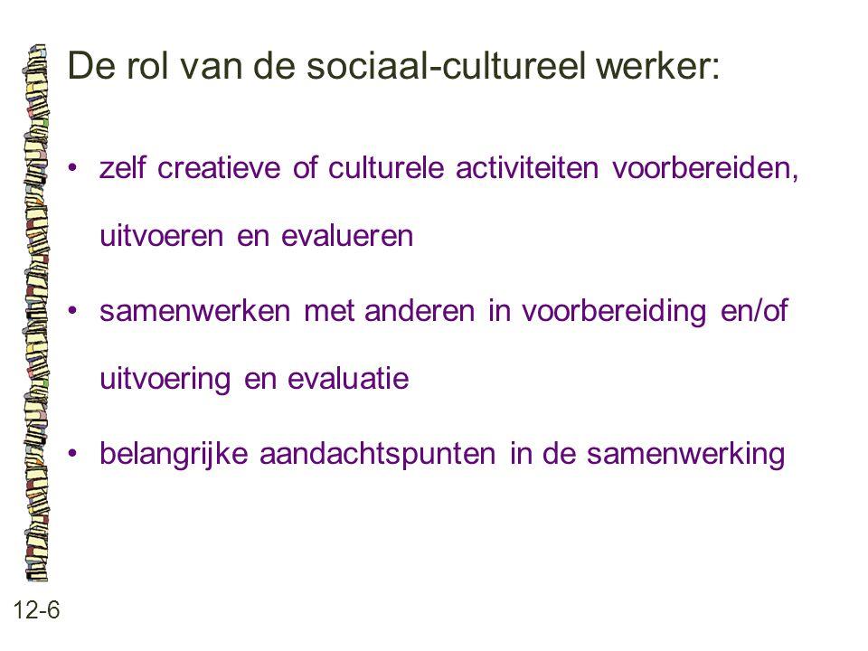 De rol van de sociaal-cultureel werker: