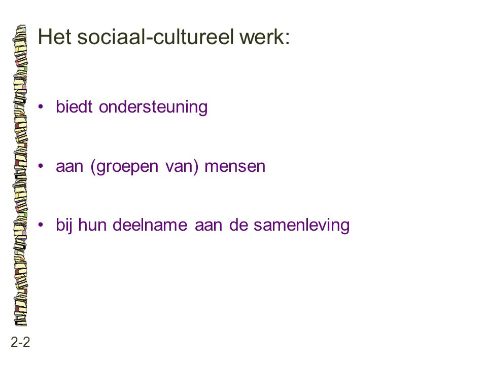 Het sociaal-cultureel werk: