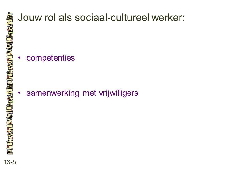 Jouw rol als sociaal-cultureel werker: