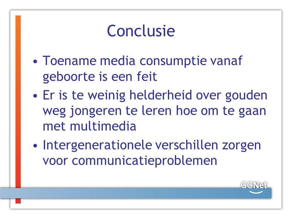 Conclusie Toename media consumptie vanaf geboorte is een feit