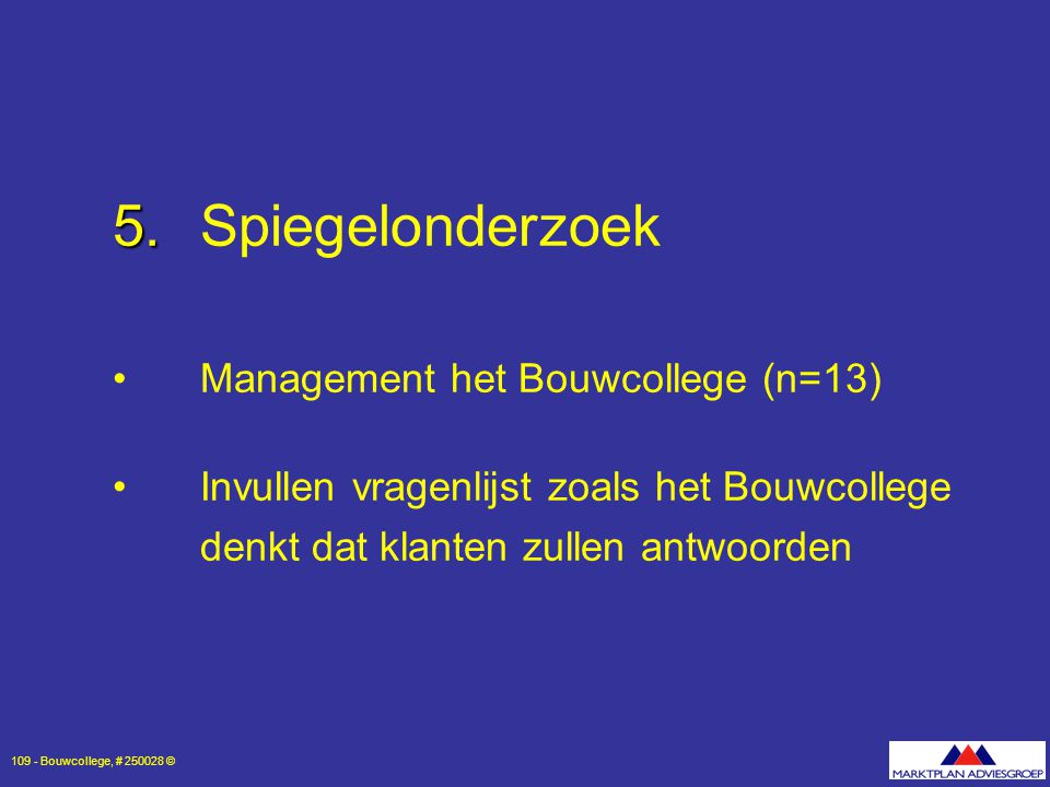 5. Spiegelonderzoek Management het Bouwcollege (n=13)