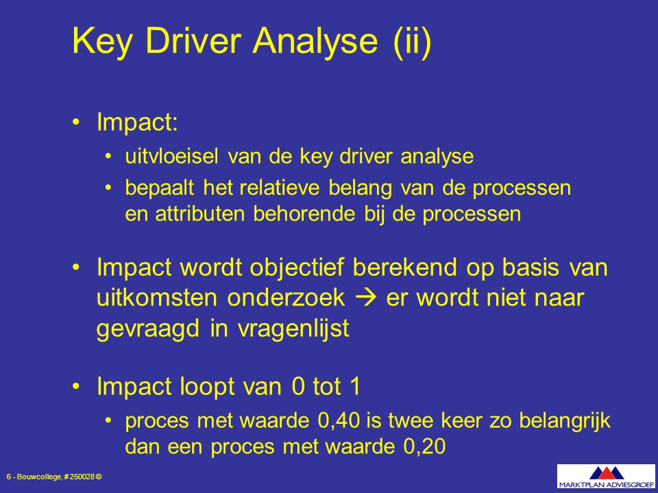 Key Driver Analyse (ii)