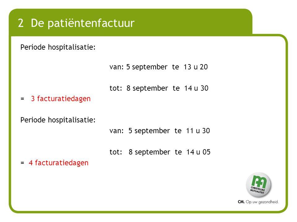 2 De patiëntenfactuur