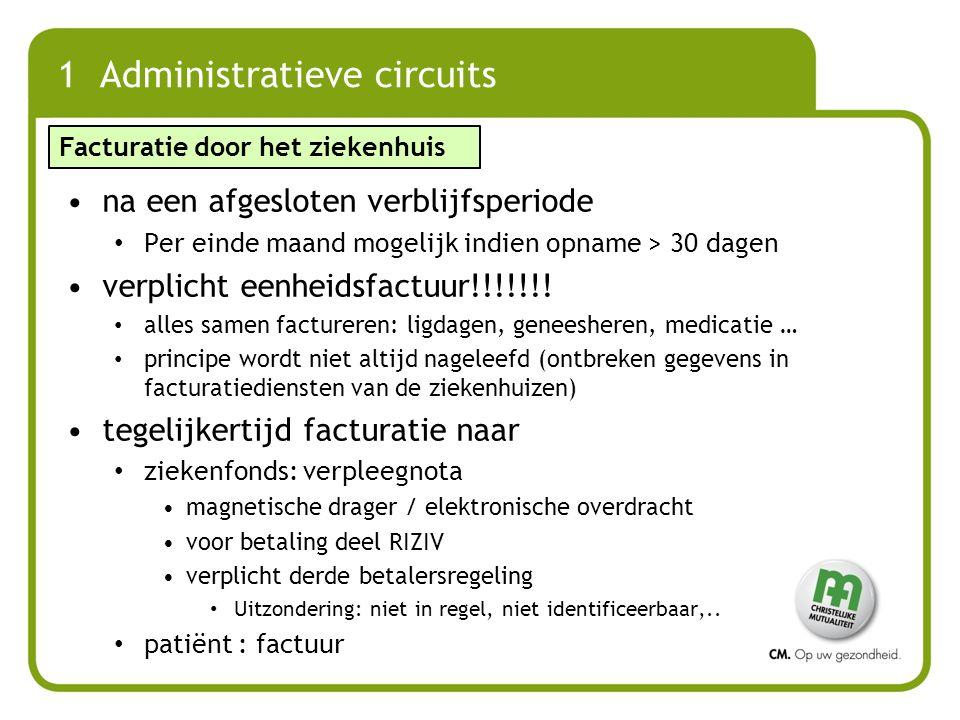 1 Administratieve circuits