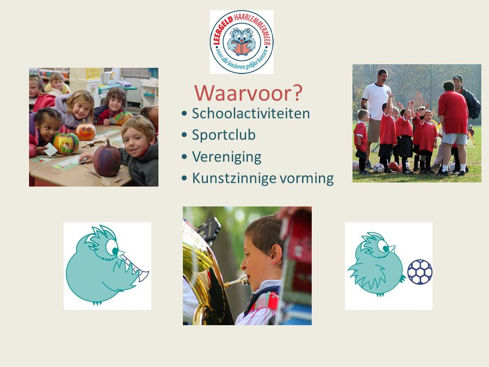 Schoolactiviteiten Sportclub Vereniging Kunstzinnige vorming