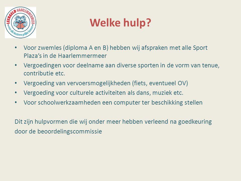Welke hulp Voor zwemles (diploma A en B) hebben wij afspraken met alle Sport Plaza's in de Haarlemmermeer.