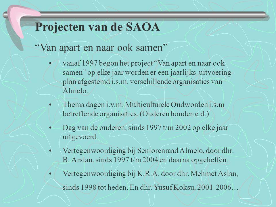 Projecten van de SAOA Van apart en naar ook samen